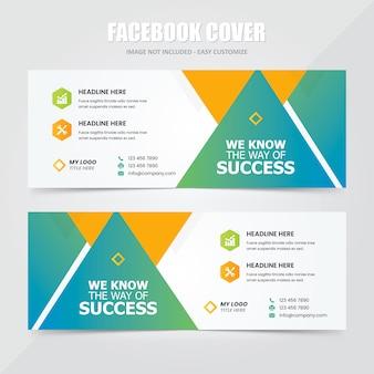 Modelo de anúncio - banner social da capa do facebook