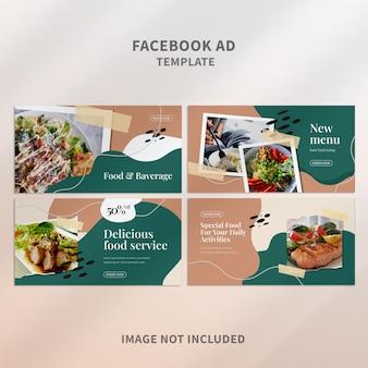 Modelo de anúncio criativo do facebook