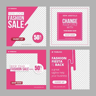 Modelo de anúncio de banner de moda instagram editável