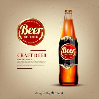 Modelo de anúncio de cerveja realista