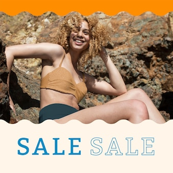 Modelo de anúncio de promoção de verão