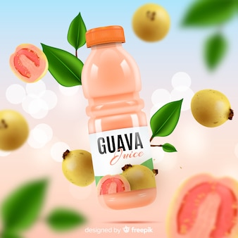Modelo de anúncio de suco de fruta