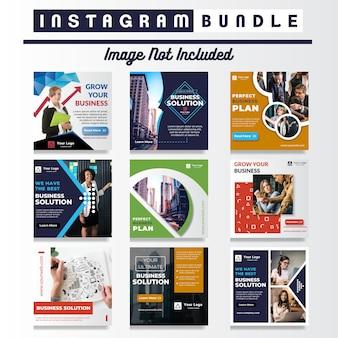 Modelo de anúncio - mídia social de negócios