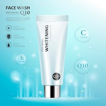 Modelo de anúncio para lavagem facial