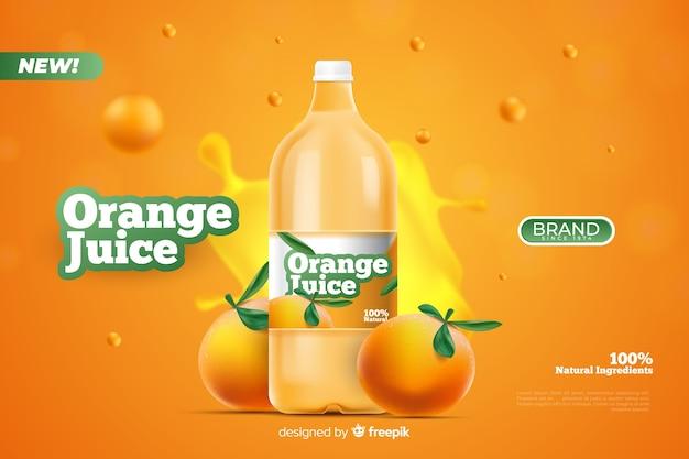 Modelo de anúncio para suco natural