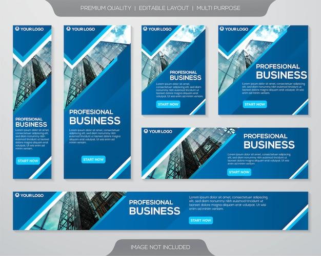 Modelo de anúncios de kit de promoção de negócios