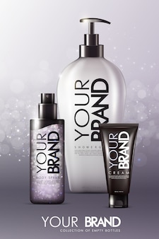 Modelo de anúncios realistas para cuidados com a pele