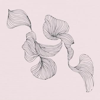 Modelo de anúncios sociais com moldura floral swirly