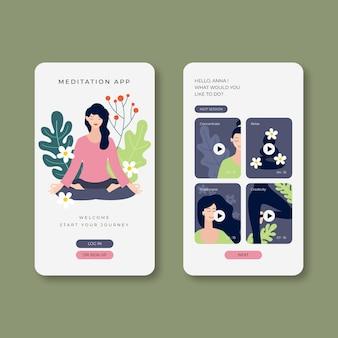 Modelo de aplicação de meditação