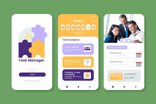 Modelo de aplicativo de gerenciamento de tarefas