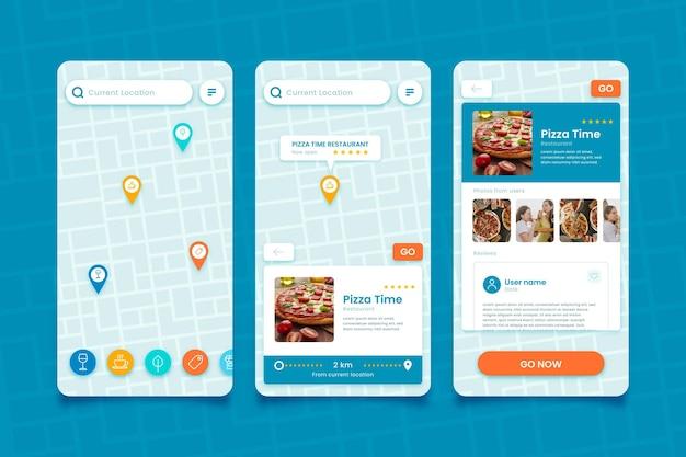 Modelo de aplicativo de localização de criativo