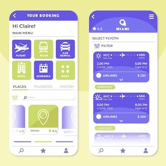 Modelo de aplicativo de reserva de viagem