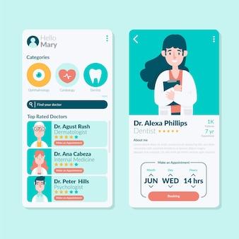 Modelo de aplicativo de reserva médica