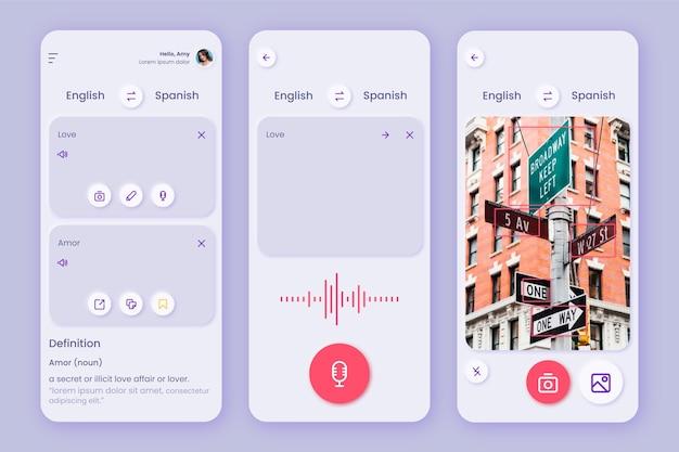 Modelo de aplicativo para tradução de idiomas