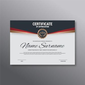 Modelo de apreciação de certificado elegante