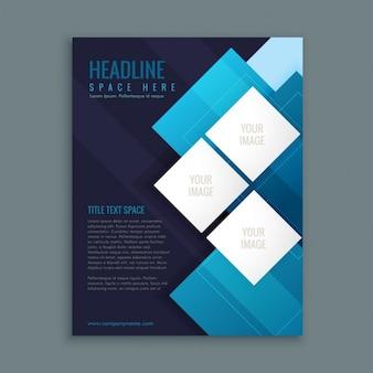 Modelo de apresentação azul folheto do negócio