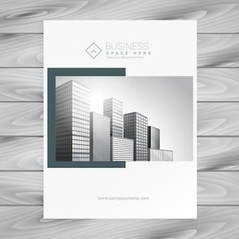 Modelo de apresentação capa de revista empresa