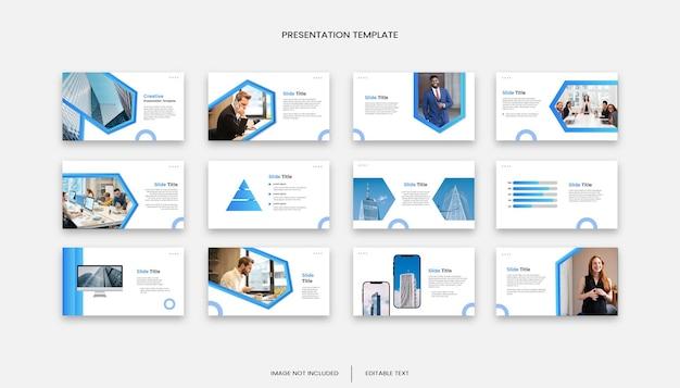 Modelo de apresentação de 12 slides para negócios polivalentes