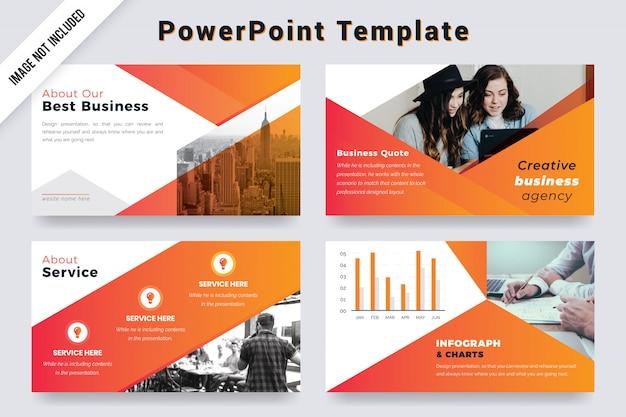 Modelo de apresentação de agência de negócios criativos