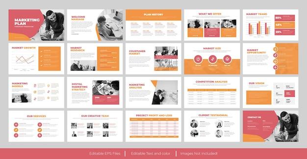 Modelo de apresentação de apresentação do plano de marketing