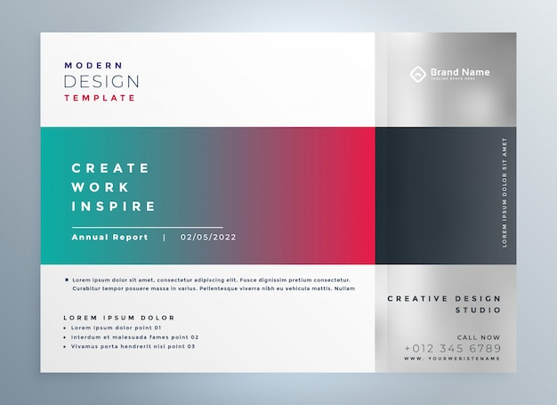 Modelo de apresentação de brochura de negócios modernos elegantes