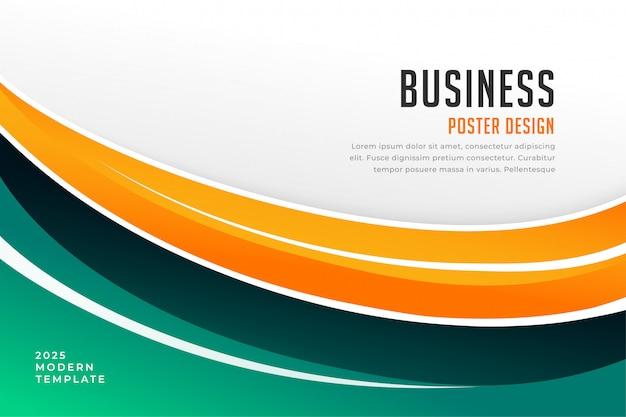 Modelo de apresentação de capa de negócios