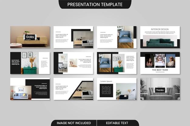 Modelo de apresentação de design de interiores