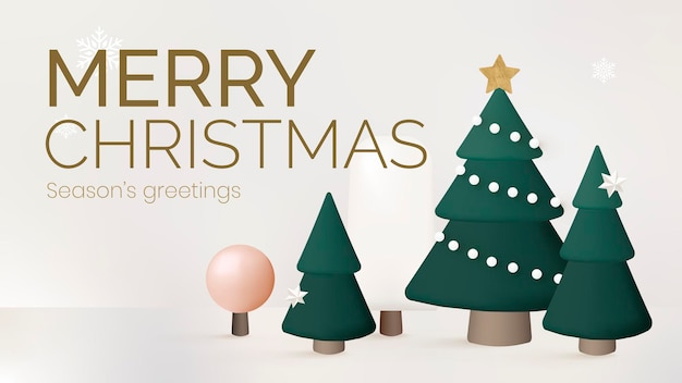 Modelo de apresentação de feliz natal, vetor de saudações da temporada