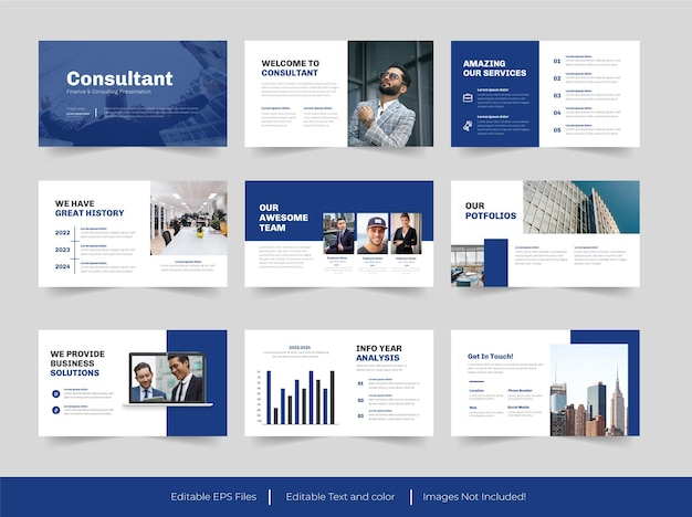 Modelo de apresentação de finanças e consultoria