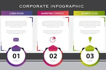 Modelo de apresentação de infográfico de negócios