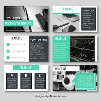 Modelo de apresentação de negócios com foto
