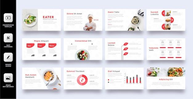 Modelo de apresentação de negócios culinários