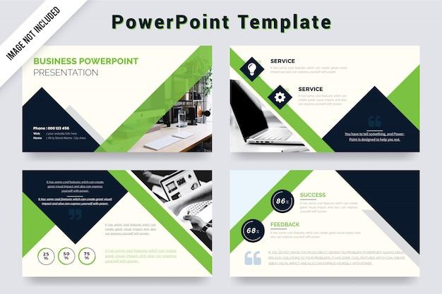 Modelo de apresentação de negócios de cor verde e preto (ppt)