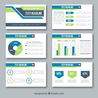 Modelo de apresentação de negócios em estilo simples