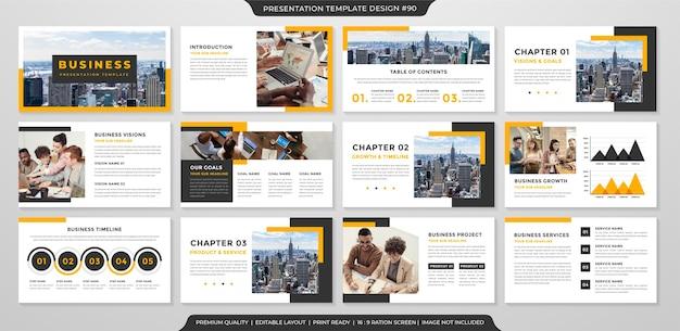 Modelo de apresentação de negócios estilo limpo