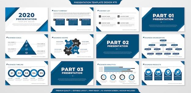Modelo de apresentação de negócios minimalista