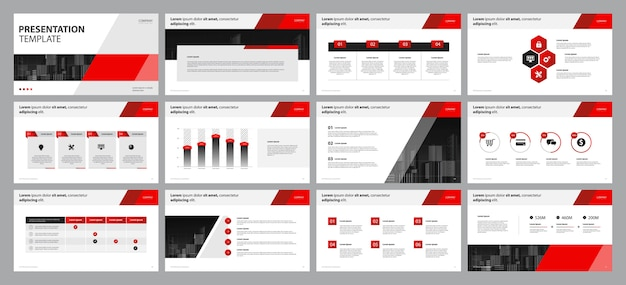 Modelo de apresentação de negócios