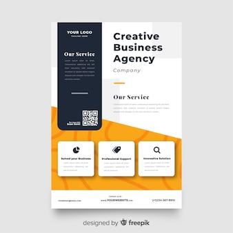 Modelo de apresentação de panfleto de negócios abstratos