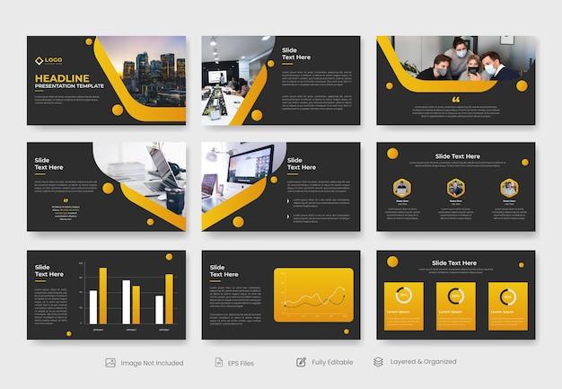 Modelo de apresentação de powerpoint de negócios abstratos