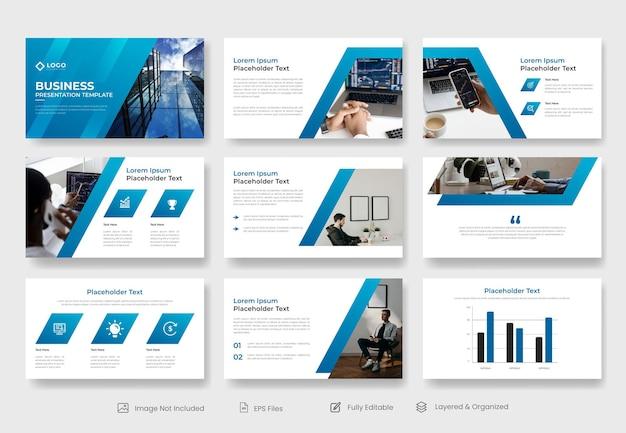 Modelo de apresentação de powerpoint de negócios corporativos