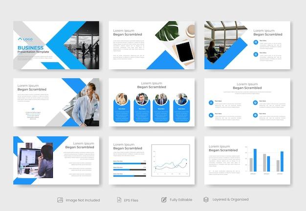 Modelo de apresentação de powerpoint de negócios mínimo