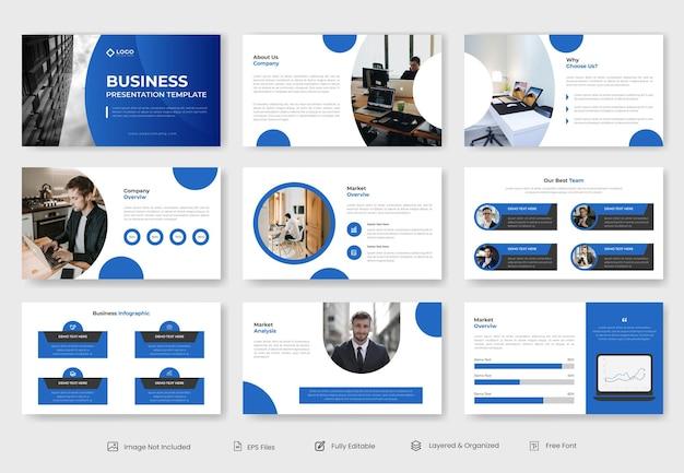 Modelo de apresentação de powerpoint de negócios
