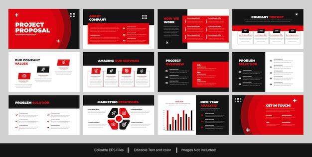Modelo de apresentação de powerpoint de proposta de negócios
