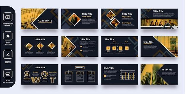 Modelo de apresentação de slides corporativos