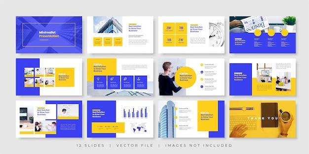Modelo de apresentação de slides de negócios mínimos