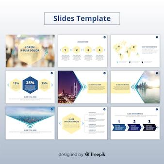 Modelo de apresentação de slides de negócios
