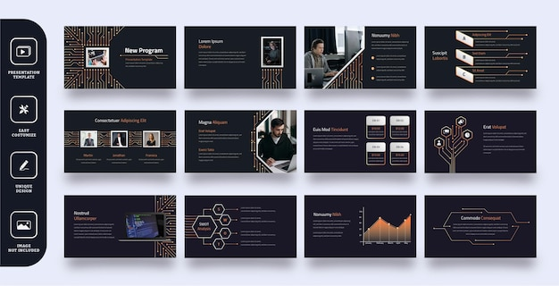 Modelo de apresentação de slides empresarial moderno