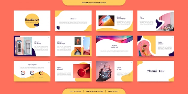 Modelo de apresentação de slides mínimo