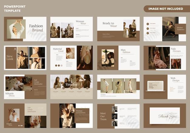Modelo de apresentação de slides mínimos de moda Vetor Premium