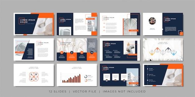 Modelo de apresentação de slides mínimos de negócios.